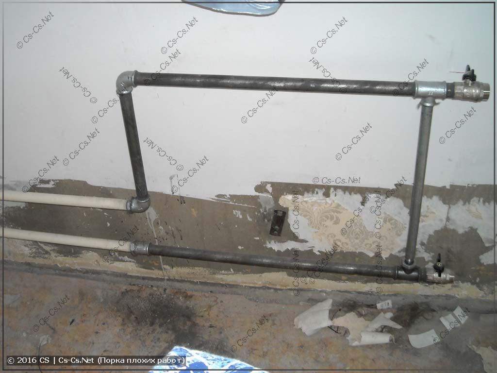 Плохо сделанная замена радиаторов отопления
