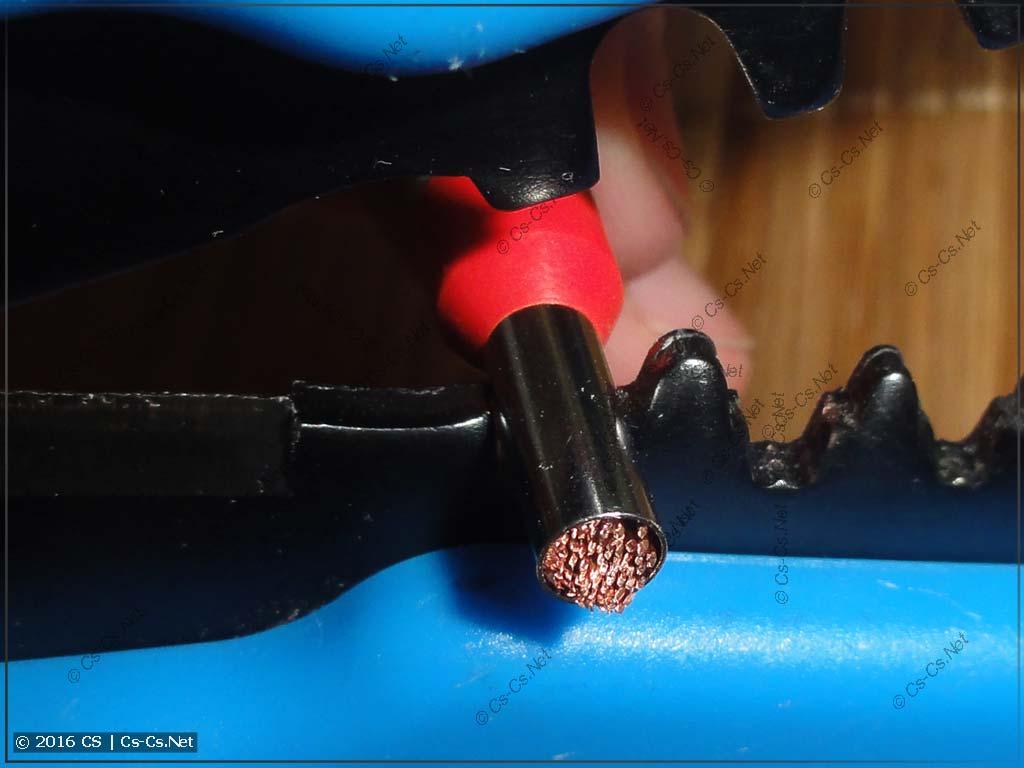 Использование зачищалки КВТ WS-04A для опрессовки НШВИ