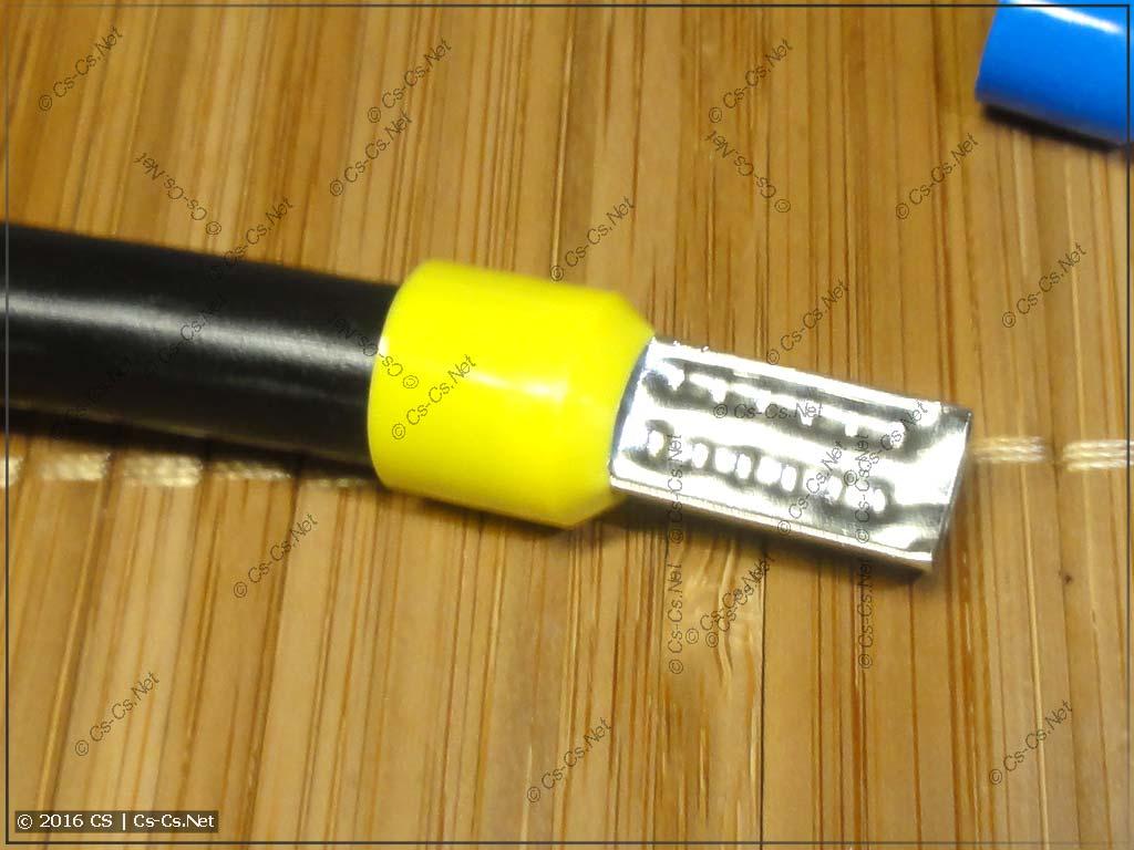 Запрессовка наконечника на 25 кв.мм. при помощи КВТ СТК-03