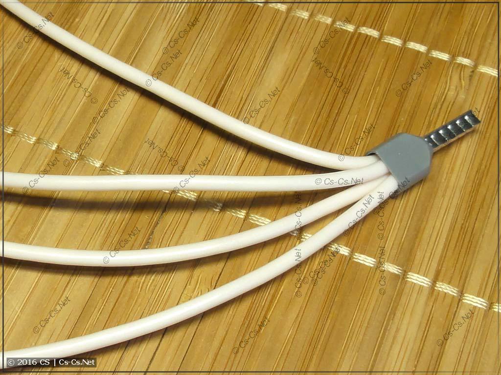Опрессовка нескольких проводов мелкого сечения в наконечник НШВИ большего сечения
