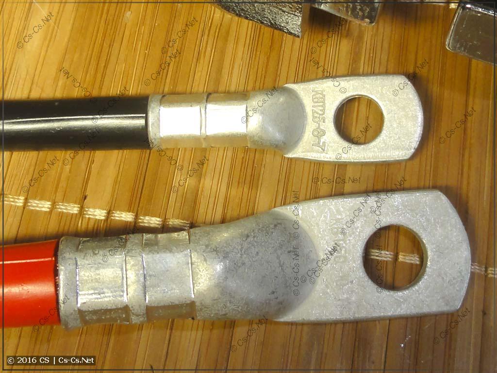 Опрессованные наконечники ТМЛ больших сечений