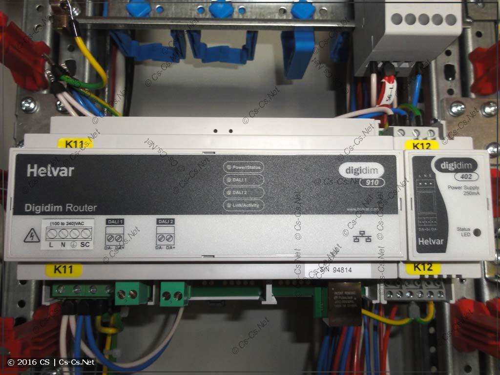 Оборудование Helvar DigiDim 910 (Роутер DALI)