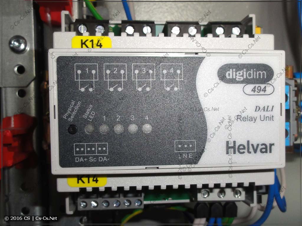 Оборудование Helvar DigiDim 494 (Реле на 4 канала)