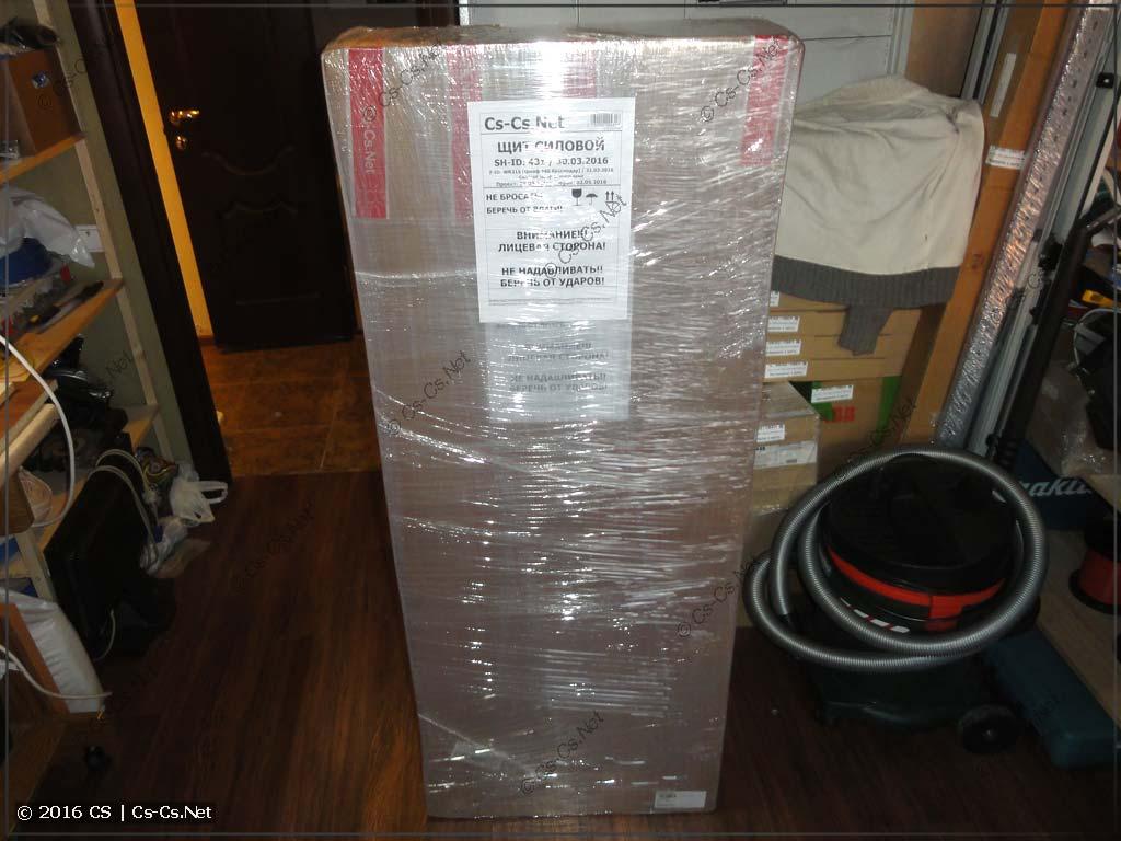 Щит упакован для отправки заказчику!