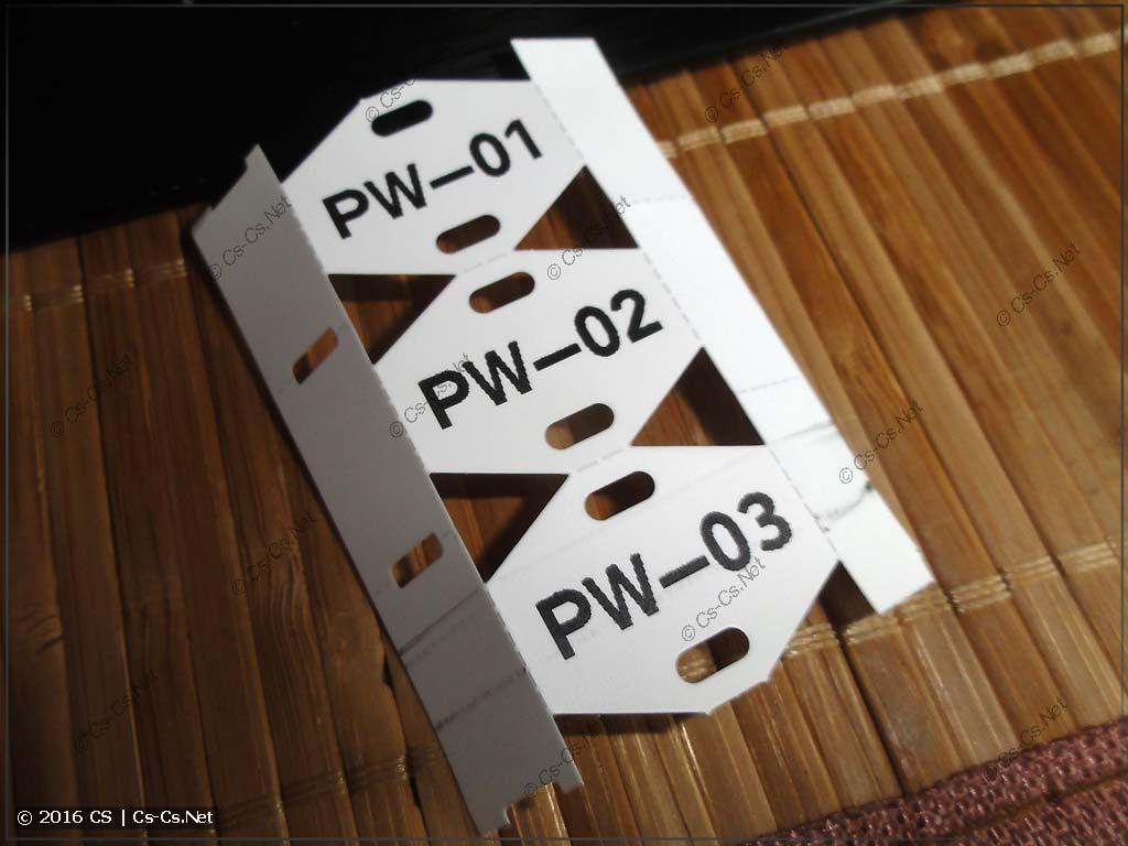 Кабельные бирки WAGO 211-835 (подготовка к маркировке)