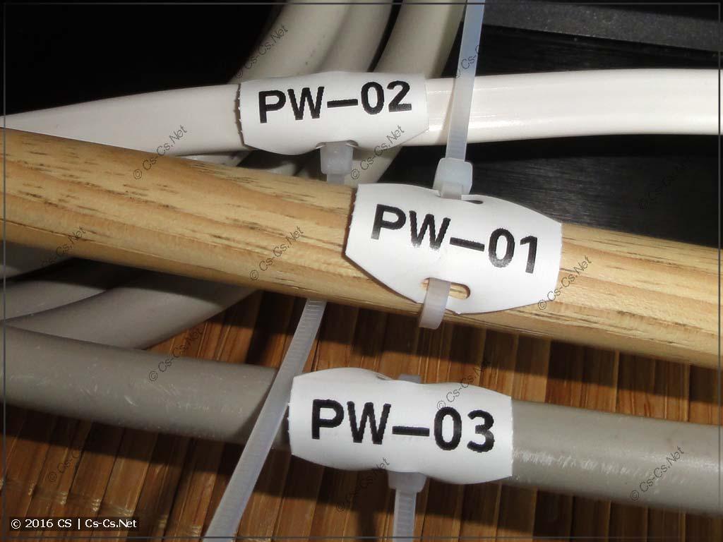 Кабельные бирки WAGO 211-835 на кабелях для теста