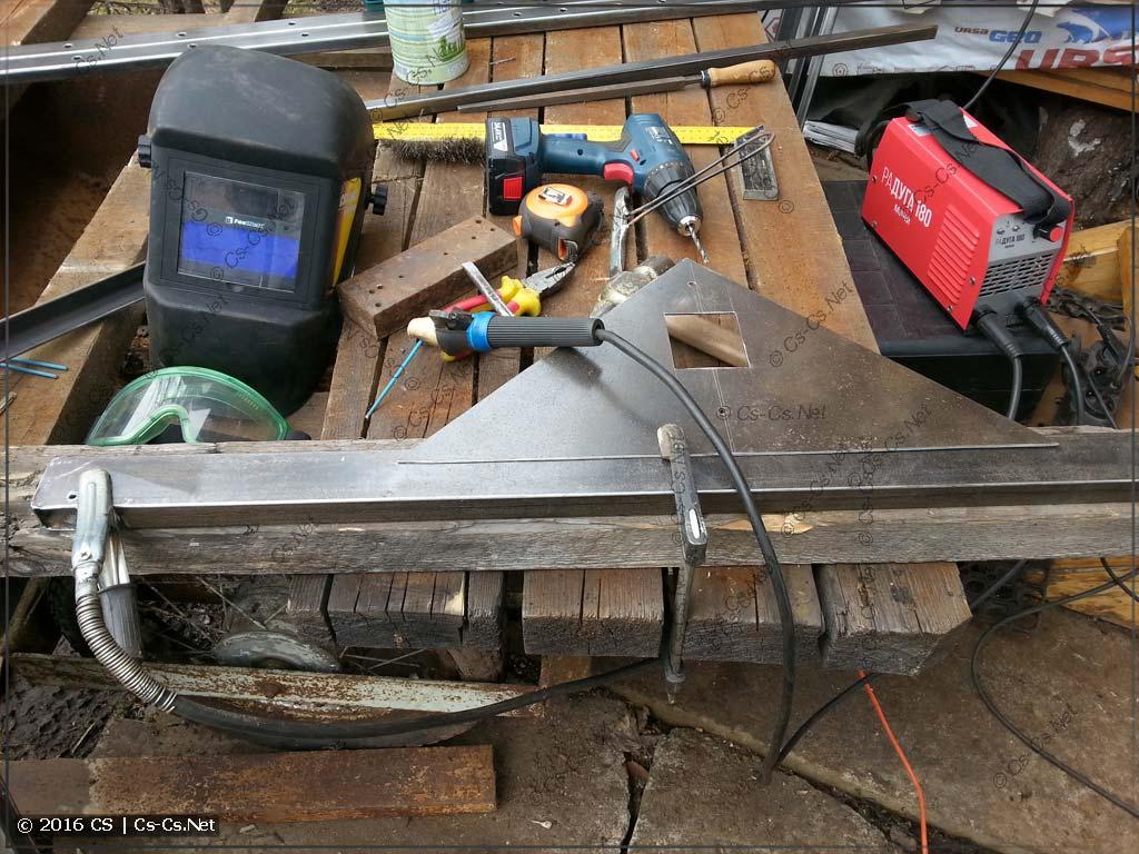 Стапель для сборки щитов на базе EDF/WR-профилей - процесс изготовления