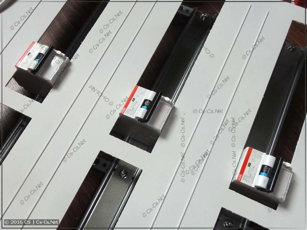 Подготовка модульки к сборке щита
