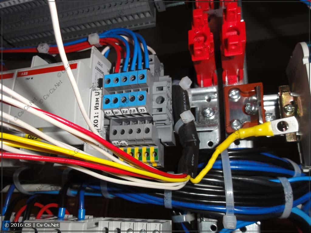 Кабель МКЭШ 10x0,75 и щит автоматики (контроль ввода сети)