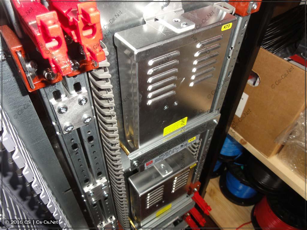 Крепление мощных блоков питания для LED-лент в щит с ПЛК