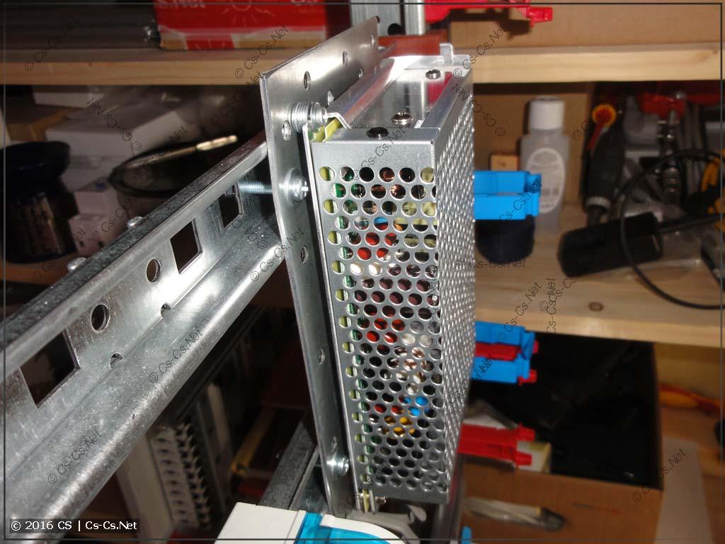 Крепление блока питания (DC-DC) на DIN-рейки