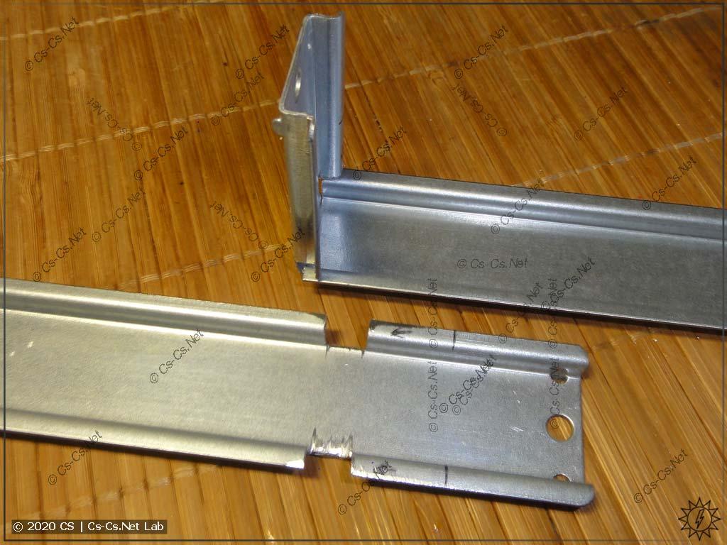 Модем ПМ-01 (или другое оборудование) будет крепиться на изгонутую DIN-рейку
