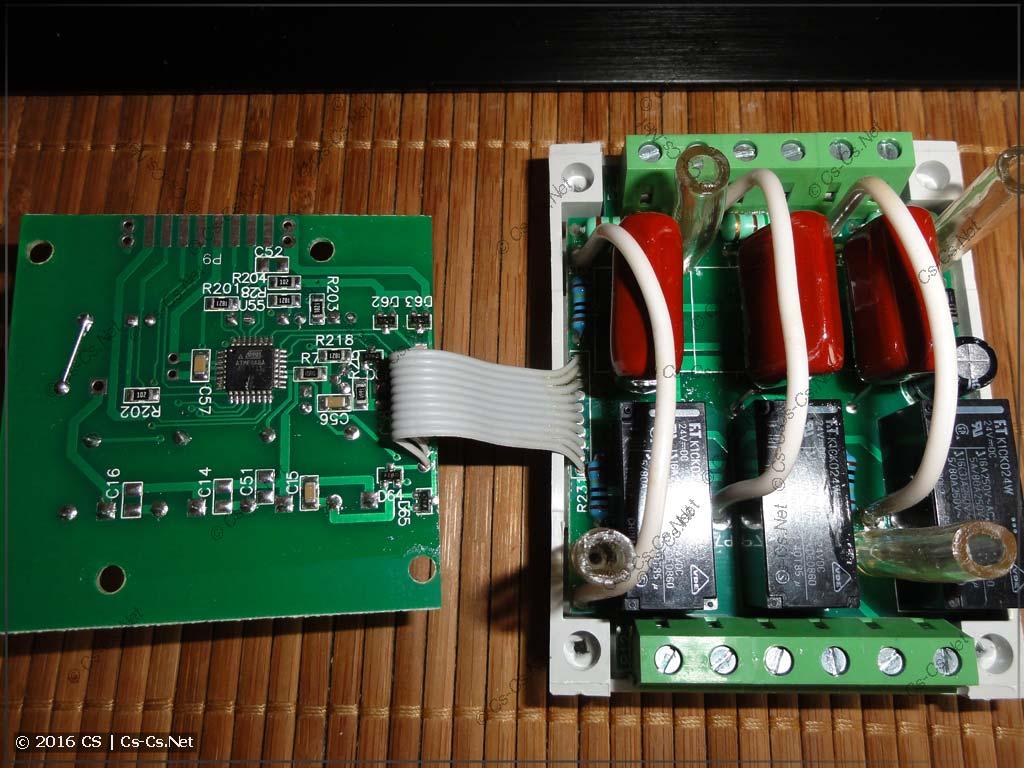 Переключатель ПЭФ-301: плата электроники и силовая часть
