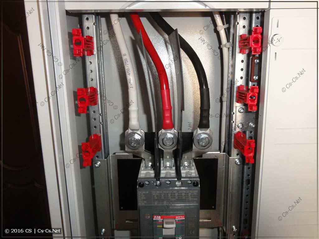 Подключение вводного автомата TMax XT