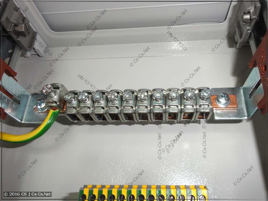 Шина PE для заземления кабельных лотков и ДСУП