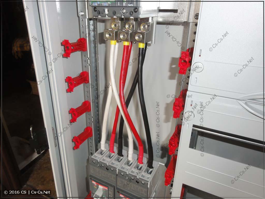 Подключение кабелей на выводы FC для автоматов Tmax XT