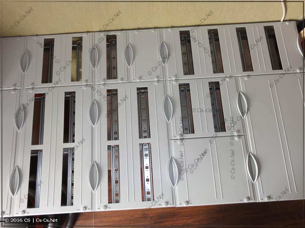WR-рама и пластроны для квартирного щита