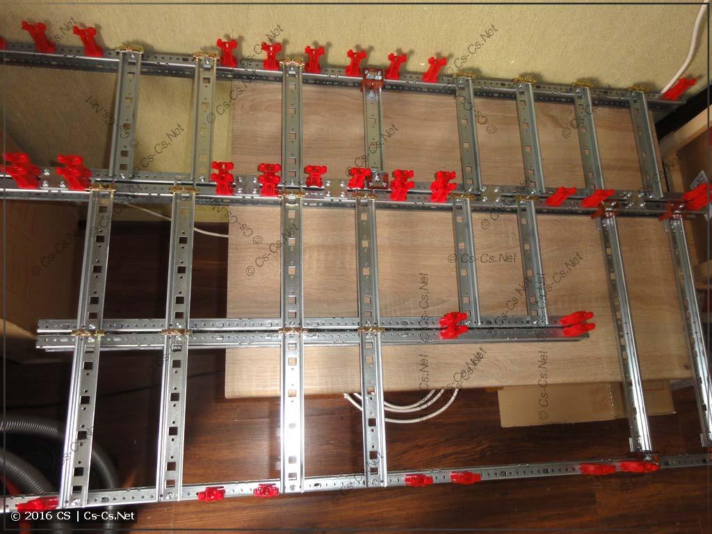 WR-рама собрана и готова к установке модульки для сборки щита