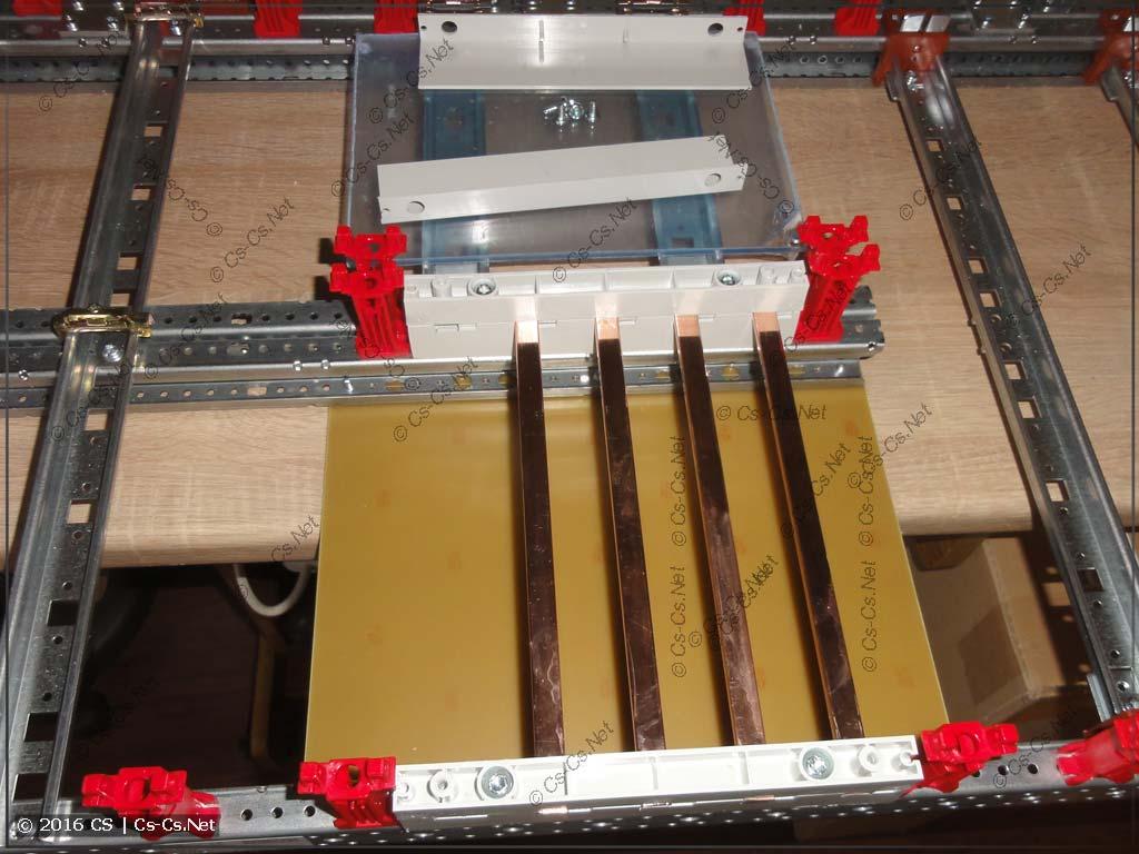 Силовые шины для кросс-модуля и изолирующая подкладка под них