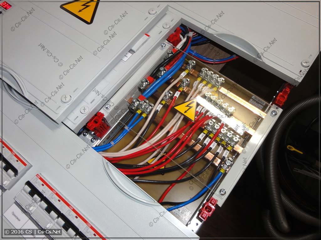 Шинный кросс-модуль перед закрытием пластроном