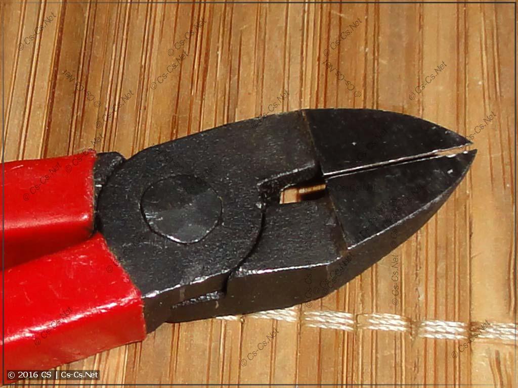 Кусачки ИН-0004 с острыми твердосплавными губками (гладкая часть)