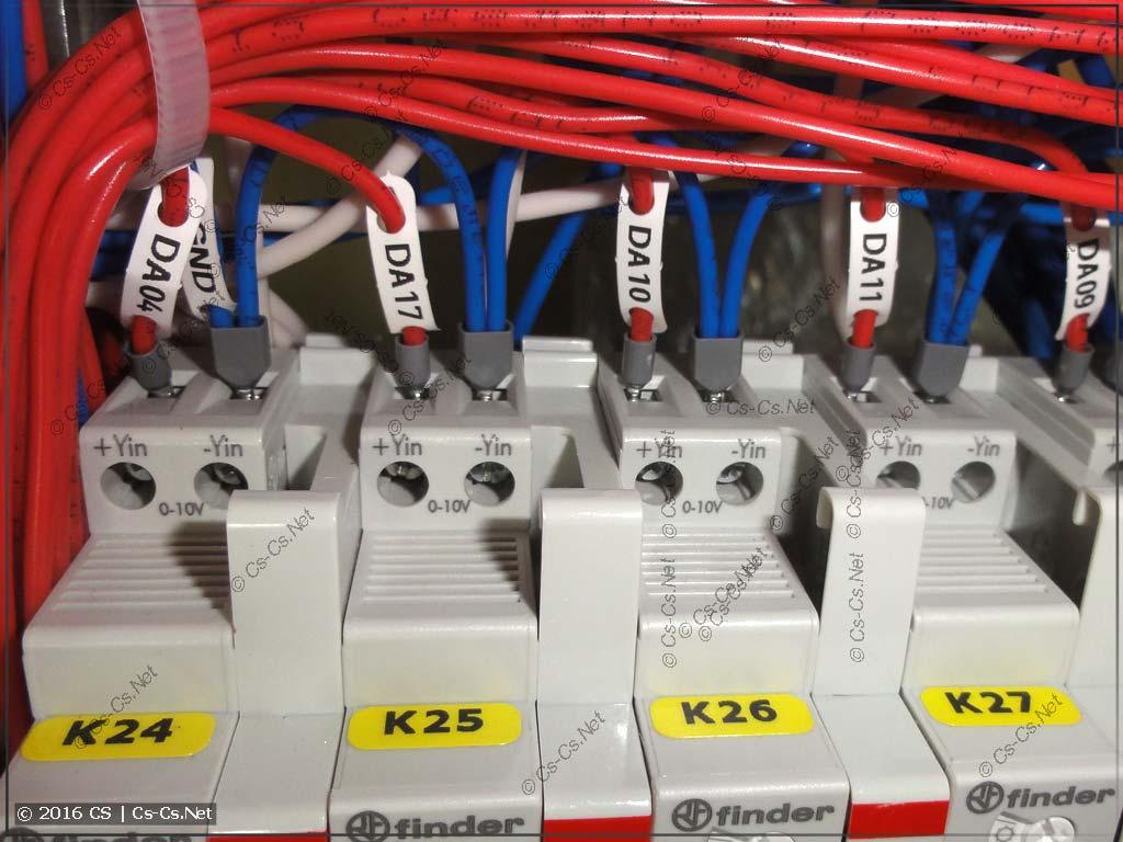 Подключение сигналов управления 0..10V к диммерам Finder