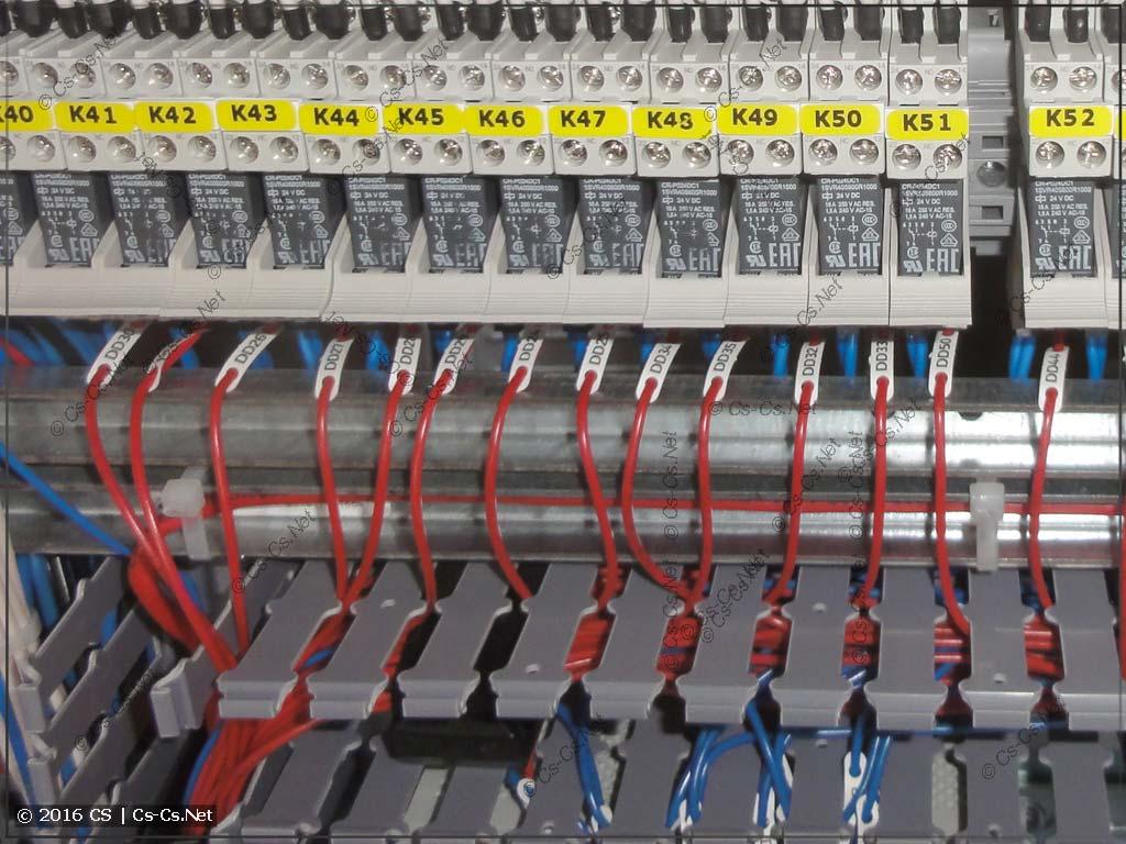 Подключение управления релюшками CR-P от ПЛК