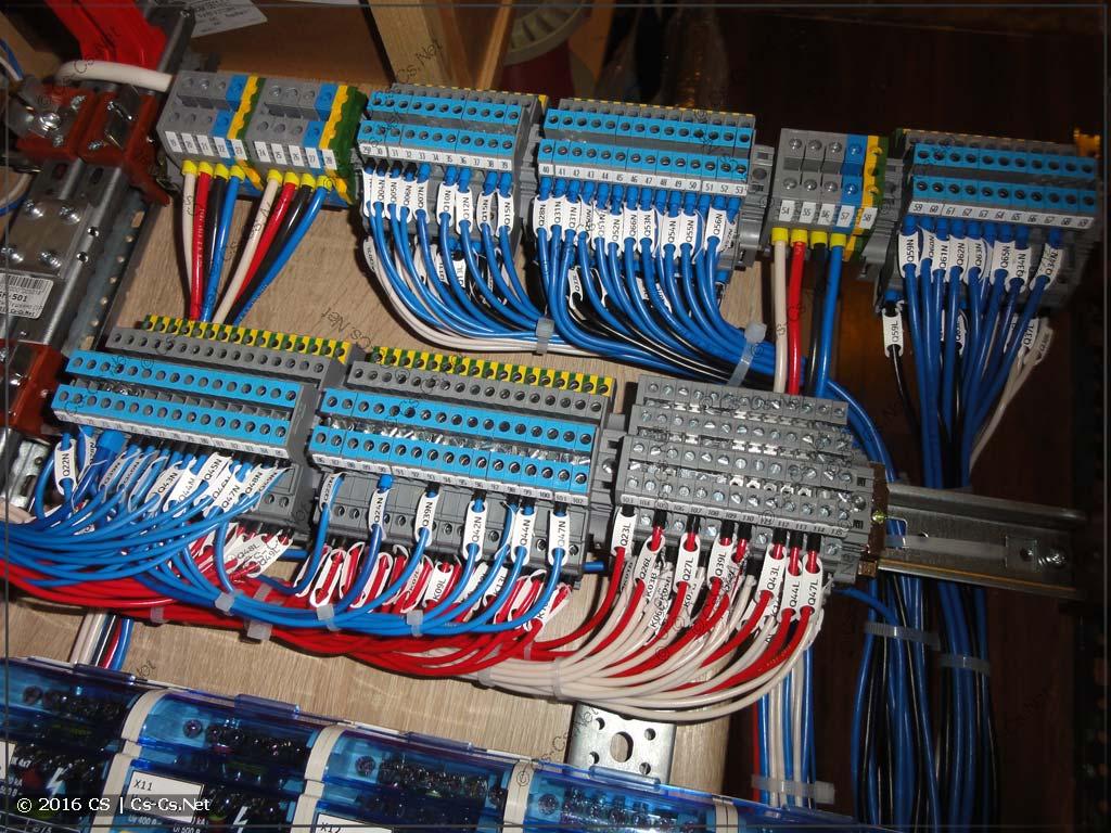 Клеммы для подключения отходящих кабелей (линий)