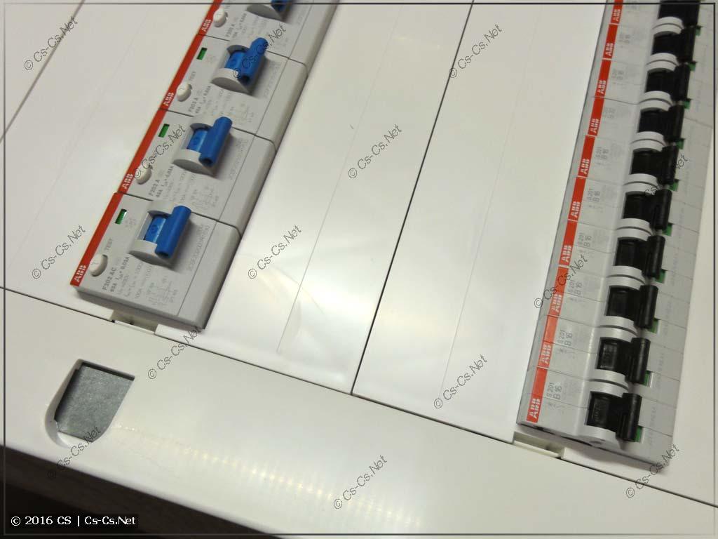 Щит ABB серии Mistral 41 (встроенный, красивые пластроны)