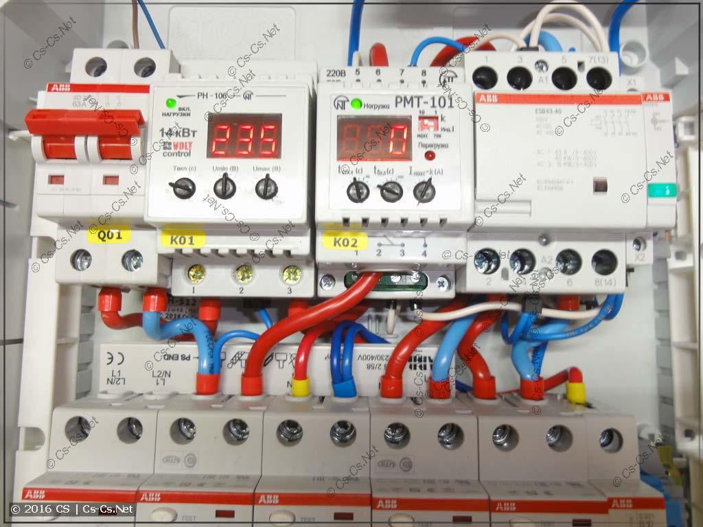 Реле напряжения НоваТек РН-106 и реле тока РМТ-101