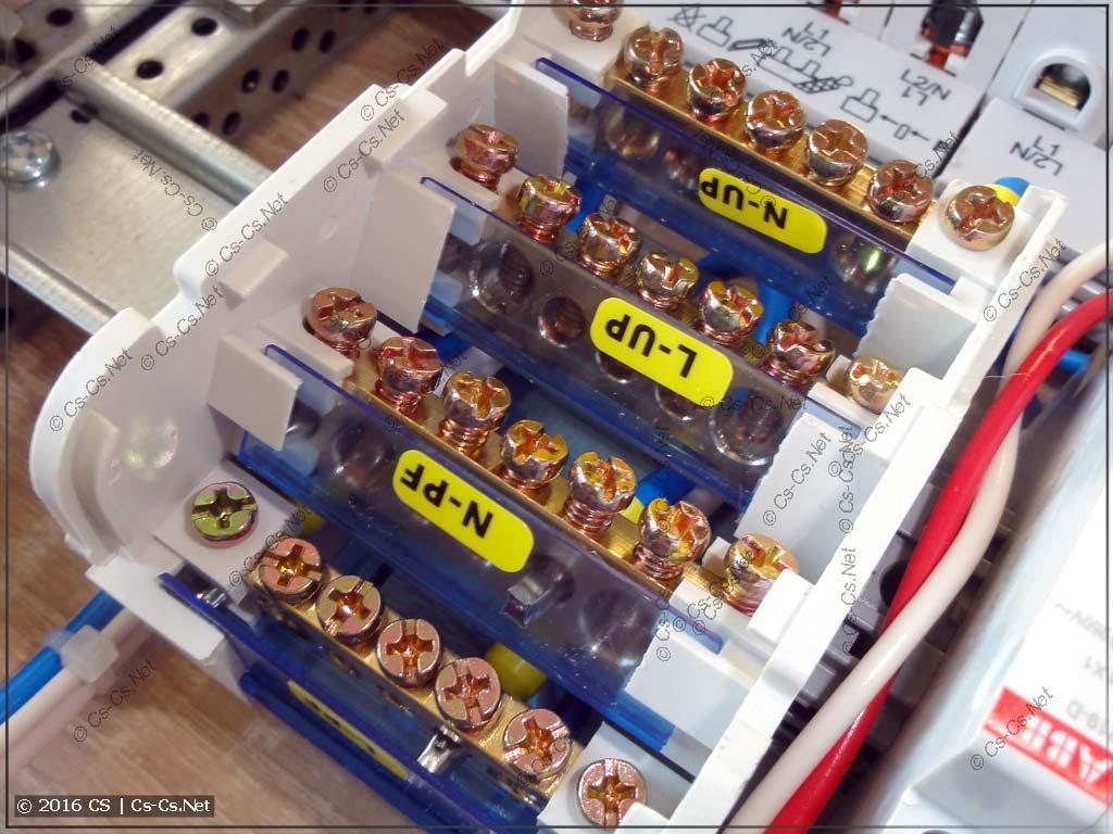 Кросс-модуль IEK ШНК 4х7 в качестве силовых шин