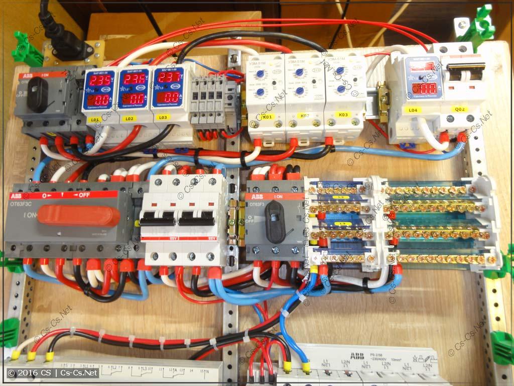 Вводная часть щита: защита, сеть-генератор