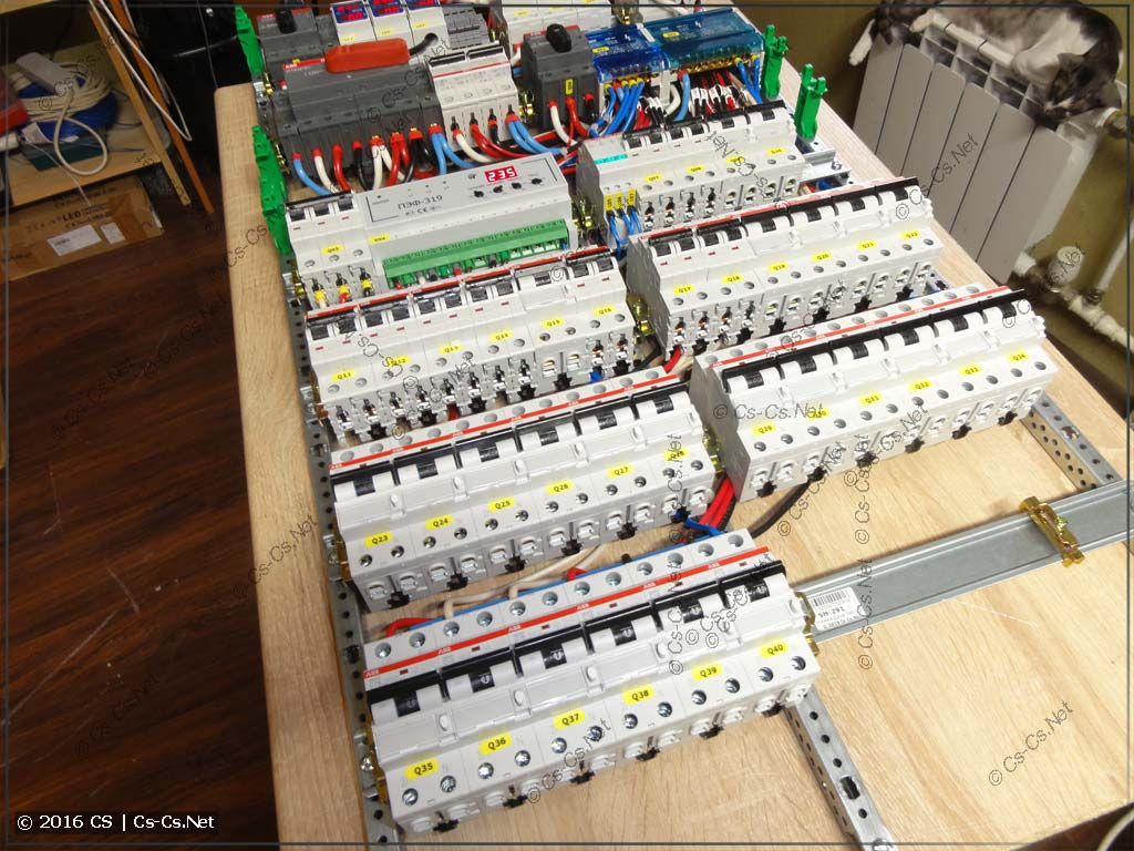 Все дифавтоматы подключены к кросс-модулям