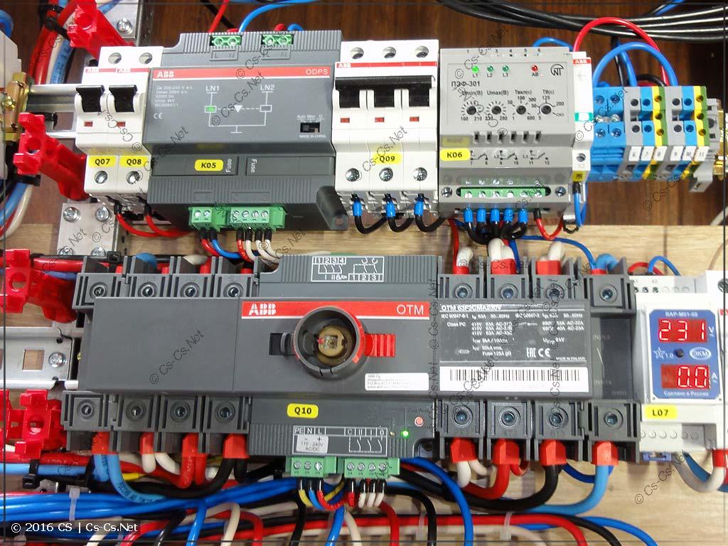Рубильник с моторным приводом ABB OTM и блок управления ODPS230