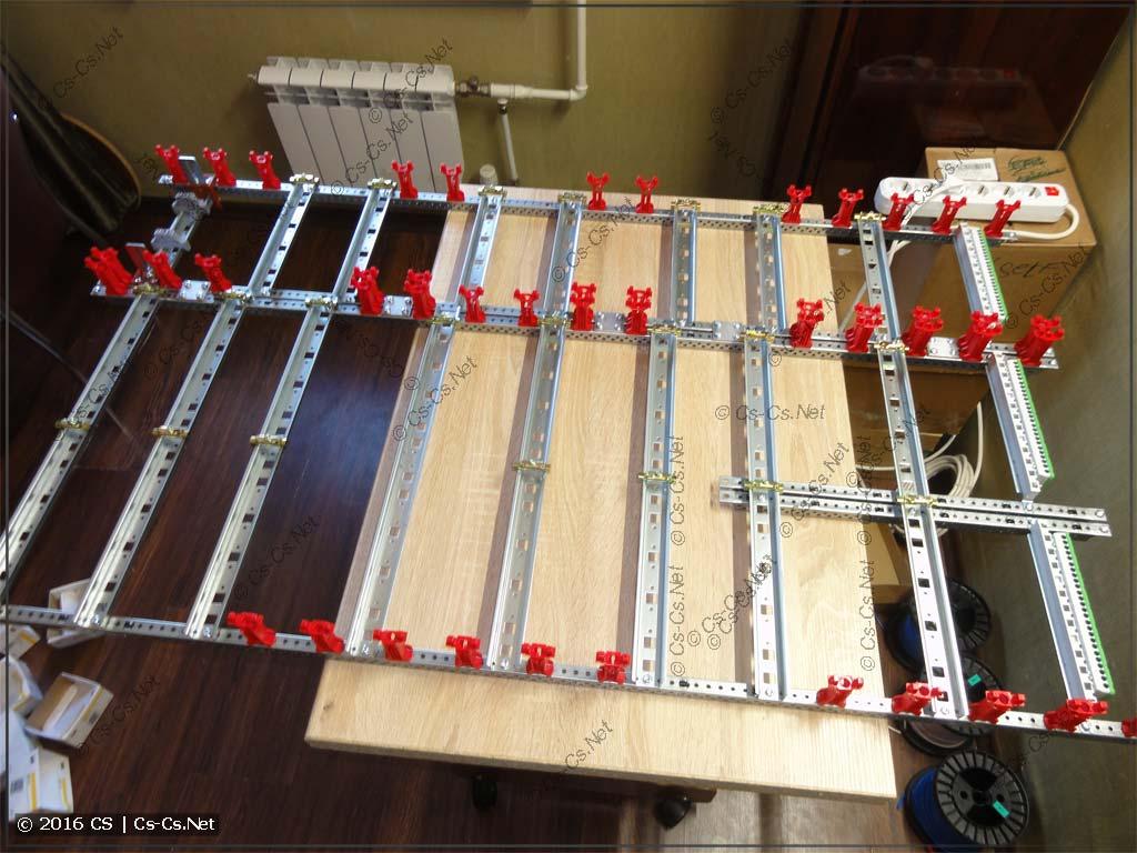 Собираем раму щита из модулей CombiLine