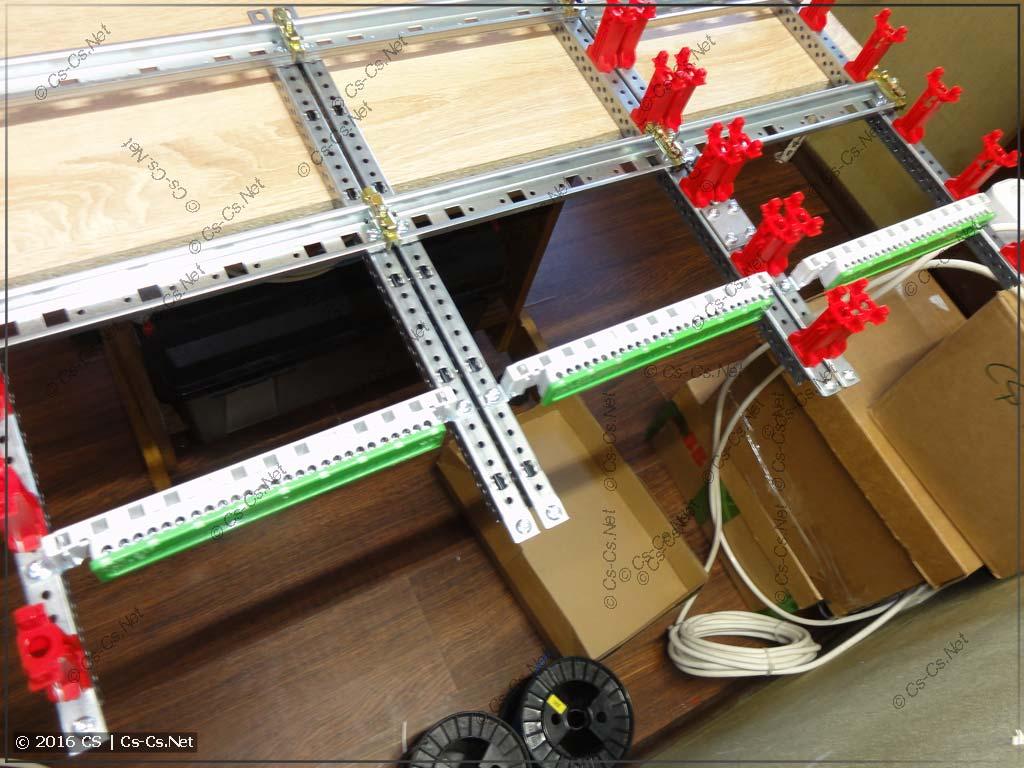 Устанавливаем держатели шинок ZK14 на EDF-профиль