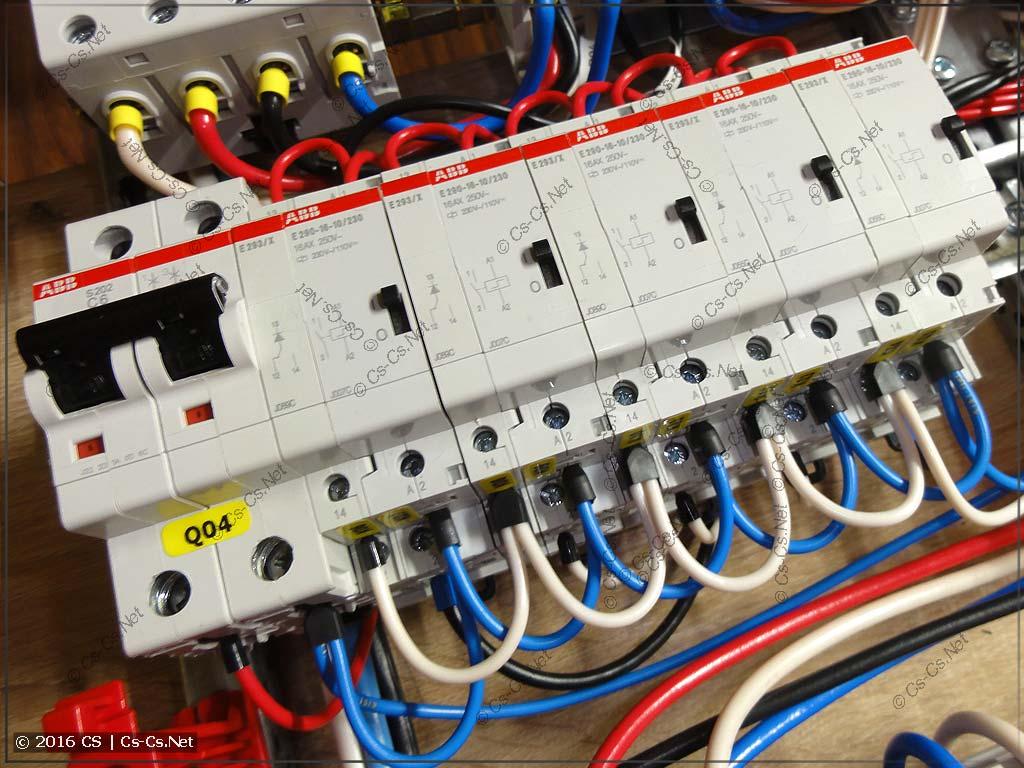 Импульсные реле серии E290 и модули центрального управления E293/X для управления светом