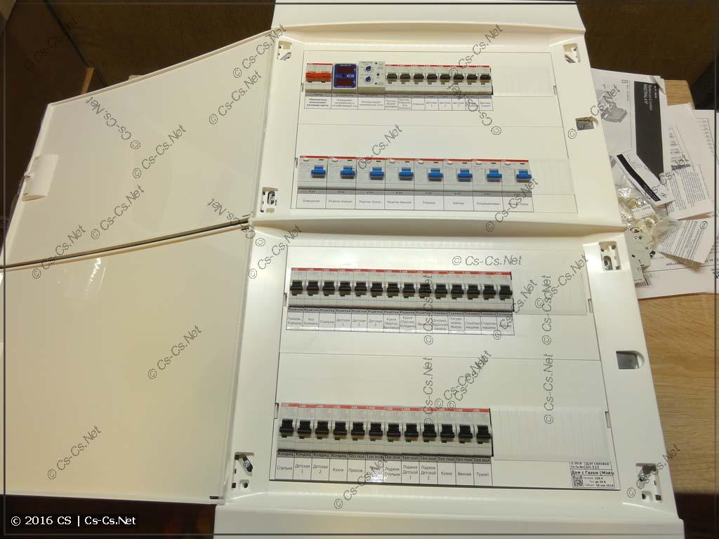 Щит для квартиры в Дом с Газом (Mistral 41 на 72 модуля)