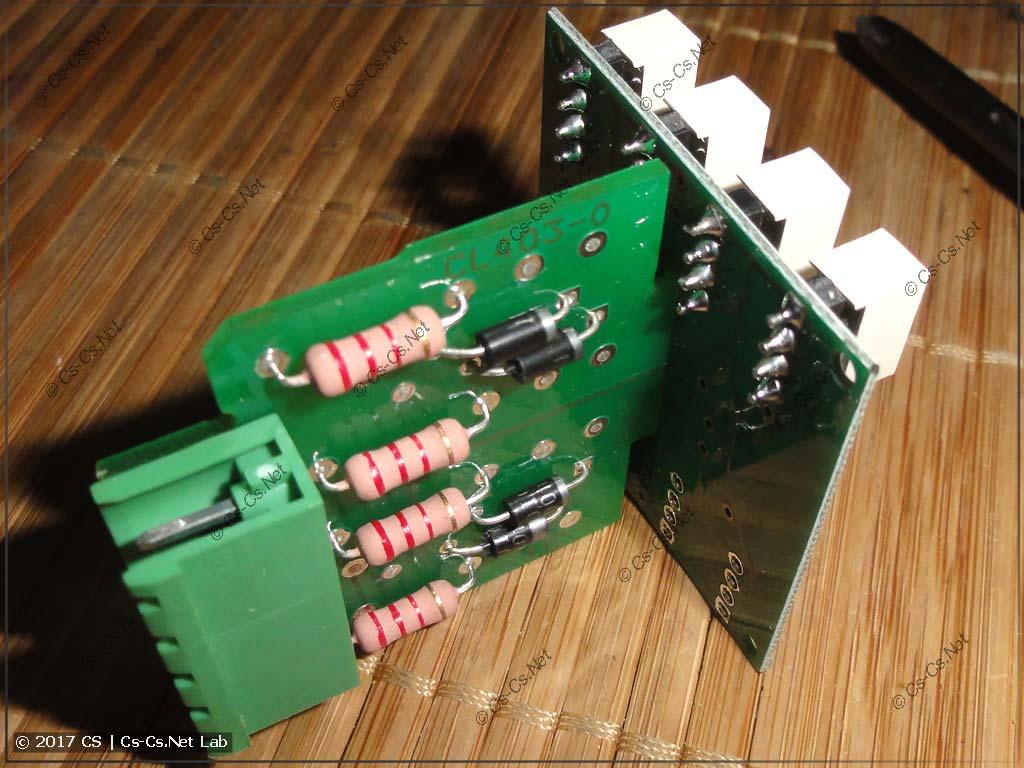 Печатная плата индикатора со светодиодами