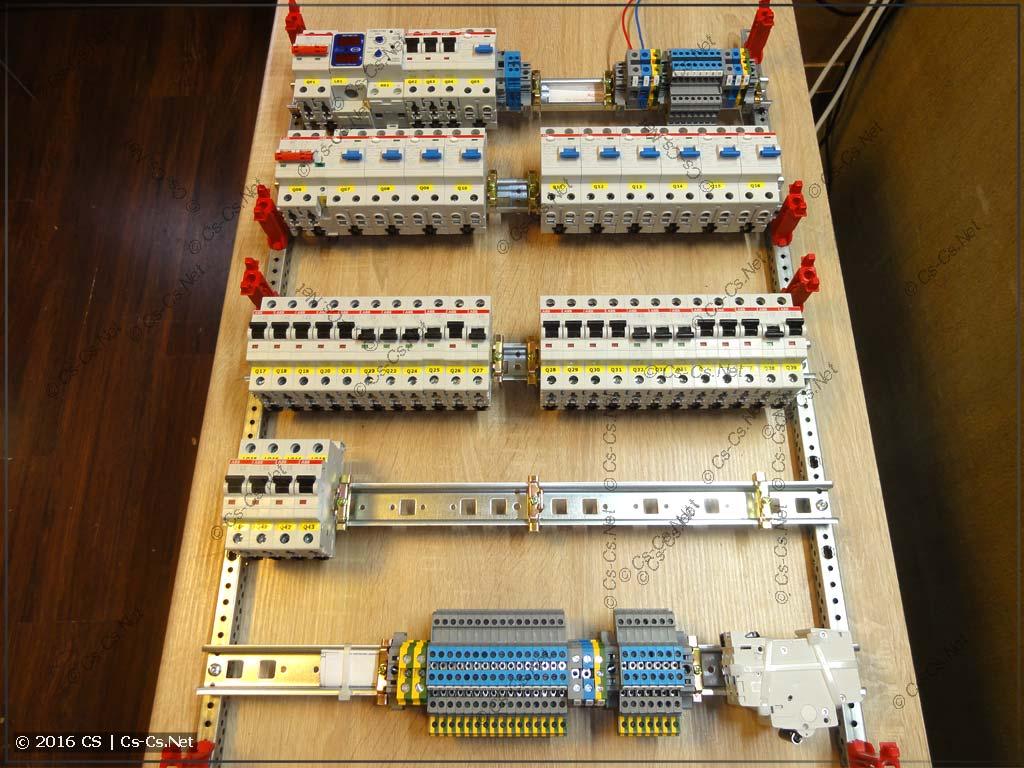 Все компоненты расставлены на EDF-панели
