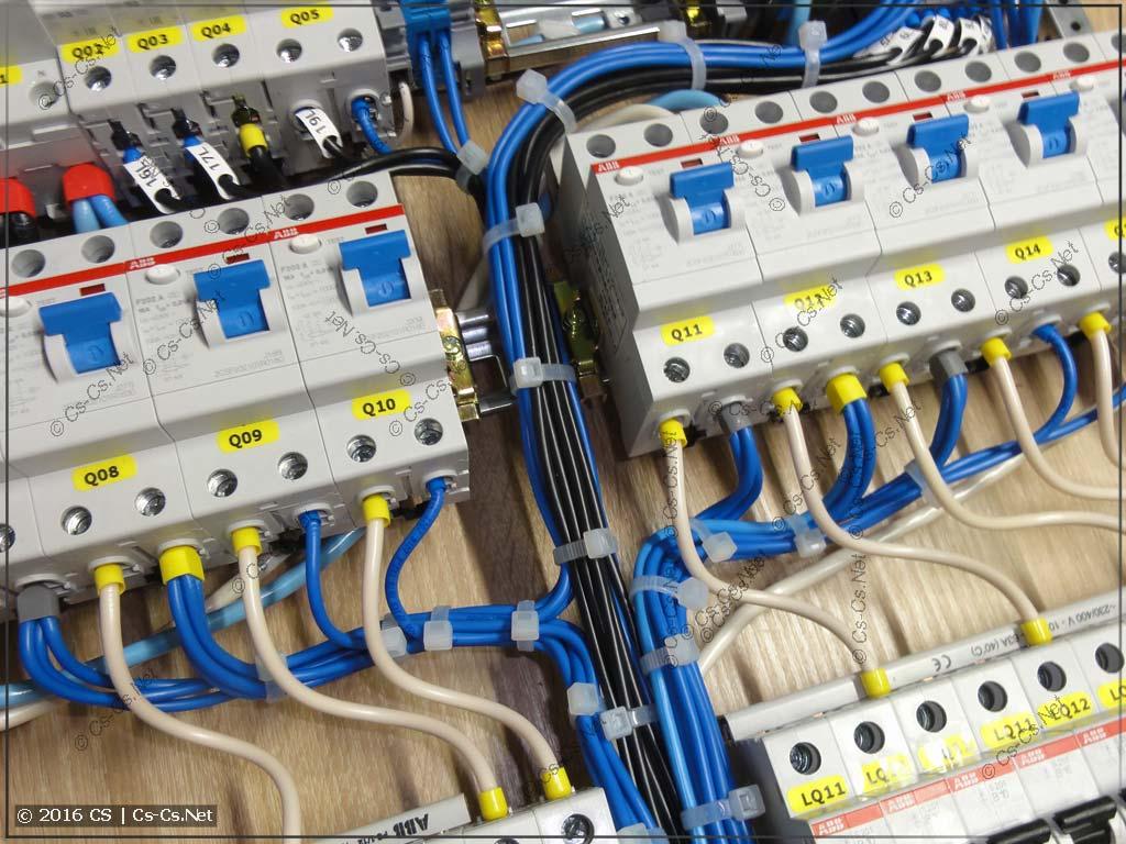 Эксперименты с проводами по щиту (нули от УЗОшек)