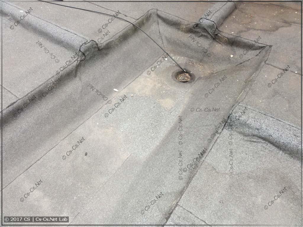 Поддон-воронка для ливнёвой канализации