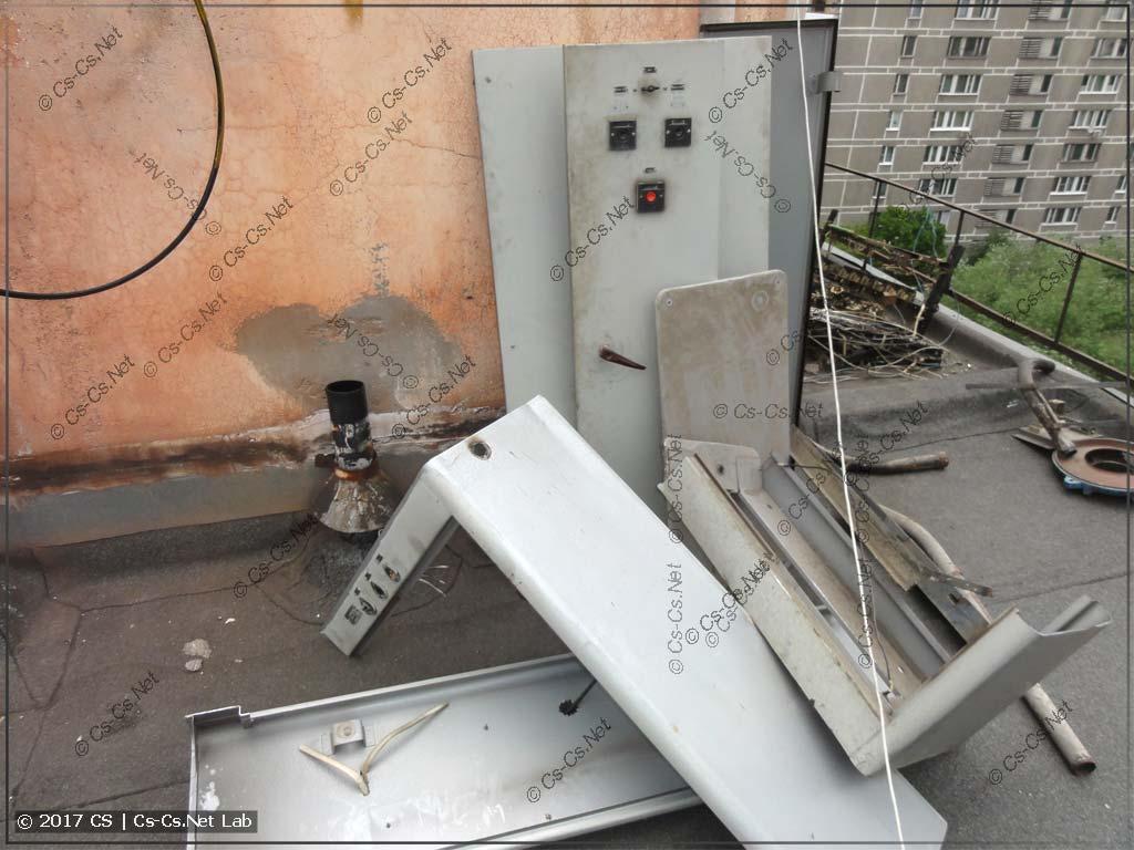 Остатки старой станции управления