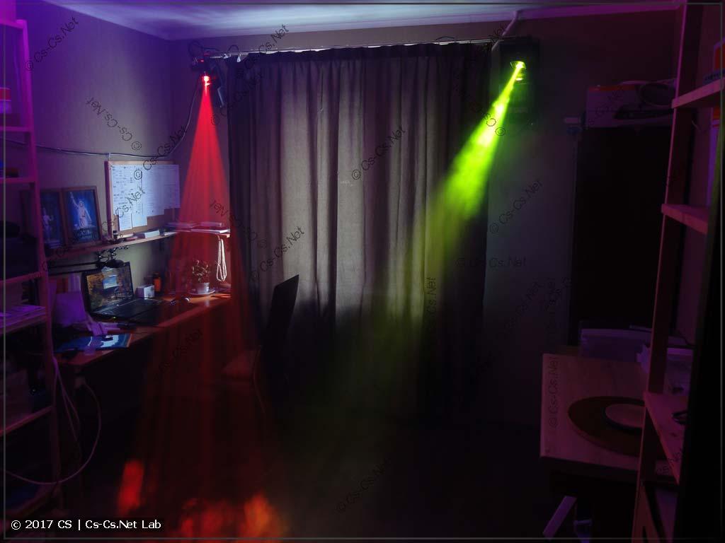 Светодиодные сканеры от ShowLight в работе