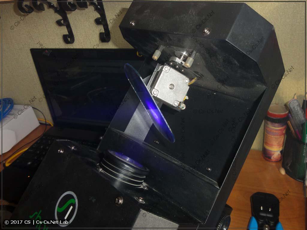 Узел привода зеркала сканера LED Scan 30 RG