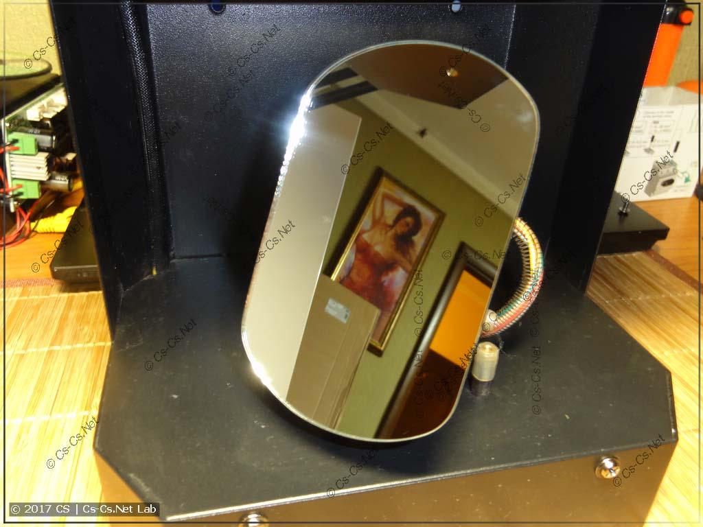 Зеркало сканера, очищенное от пыли и грязи