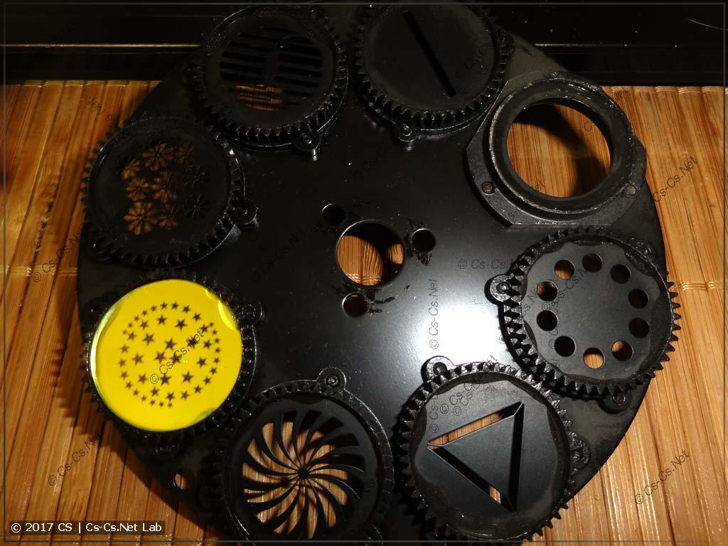 Очистили диск гобо от пыли и грязи