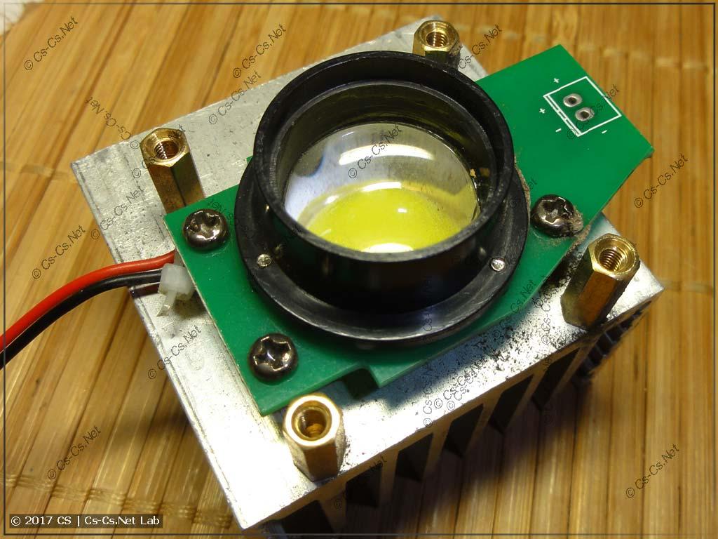 Светодиод сканера и его линза