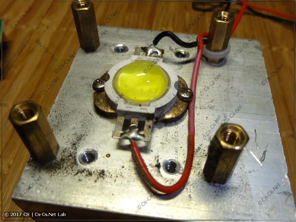 Светодиод сканера на радиаторе (на вид ватт 30)