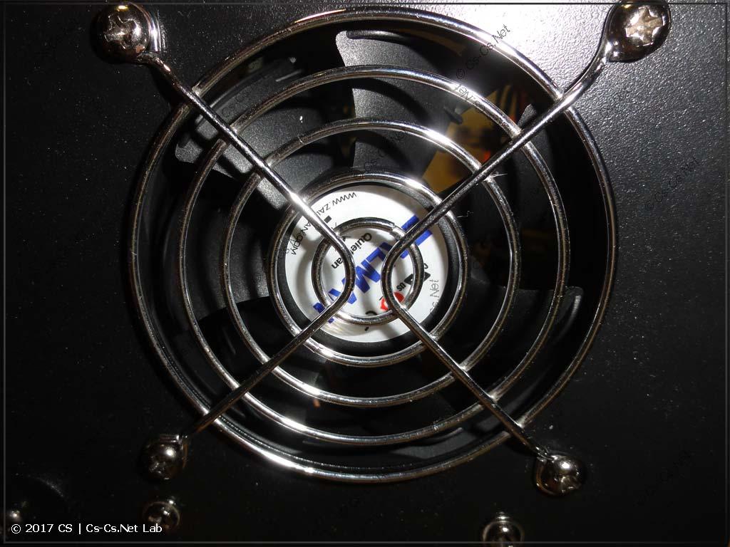 Заменили вентилятор на новый, более тихоходный